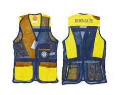 Bornaghi BGH 643, Vesta střelecká Trap, mod. London Castellani - modro/žlutá, Bornaghi Velikost: 58