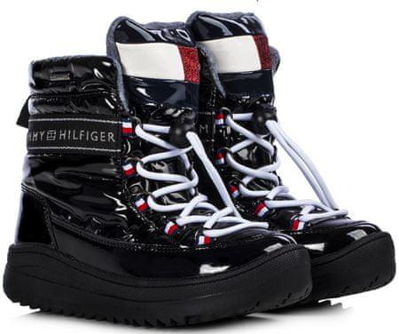 Tommy Hilfiger buty zimowe dziewczęce T3A6-30870-1045999, 30 czarne