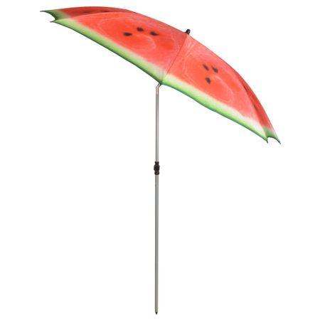 shumee Esschert Design Senčnik Watermelon 184 cm rdeč in zelen TP262