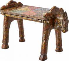 Danish Style Odkladací stolík Vite, 58 cm, hnedá