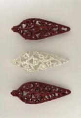 DUE ESSE 3 db-os karácsonyi dekoráció készlet, piros-fehér, 1. forma