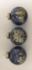 DUE ESSE zestaw 6 bombek choinkowych Ø 8 cm, różne wzory