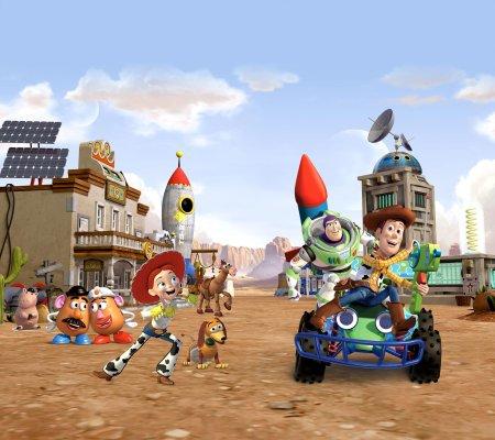 AG design zasłona bohaterowie Toy Story w mieście, 180 x 160 cm, 2 szt.