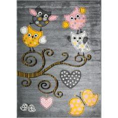 Jutex Detský koberec Playtime 0420A žltý