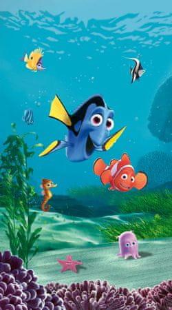 AG design zasłona Nemo i Dory z rybkami 140 x 245 cm 1 szt.