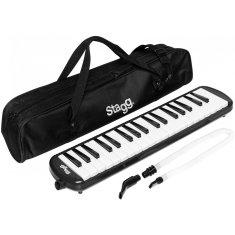 Stagg MELOSTA37 BK, klávesová harmonika, čierna