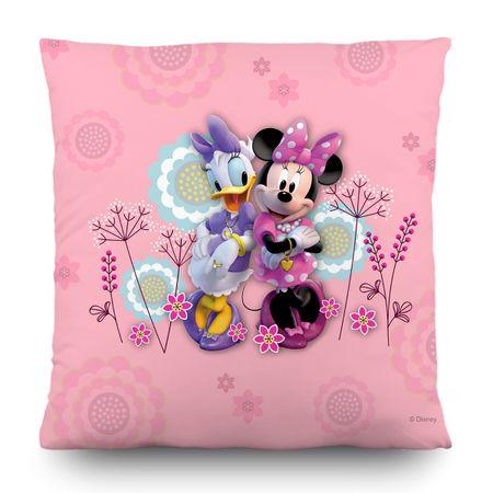 AG design Poduszka dekoracyjna Myszki Minnie i Daisy w kwiatki 40 x 40 cm