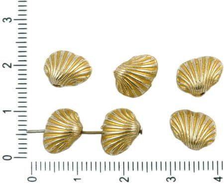 Kraftika 8db antik ezüst tónusú matt arany patina mosás shell kagyló