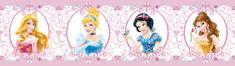 AG design bordiura samoprzylepna medaliony Księżniczki Disneya 5 m x 14 cm