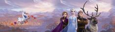 AG design Samolepící bordura Elsa s přáteli v horách 5 m x 14 cm