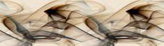 AG design Samolepiaca bordúra Hnedý magický dym 5m x 14 cm