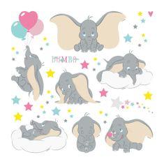 AG design Dekoracyjne naklejki Dumbo w gwiazdach Disney 30 x 30 cm