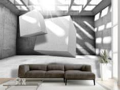 Murando DeLuxe 3D tapeta levitace šedá Rozměry (š x v) a Typ: 350x245 cm - vliesové
