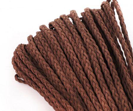 Kraftika 2yrd 1.8 m barna faux braid velúr bőr zsinórok string kötél