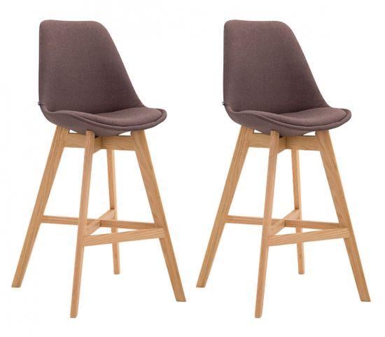 BHM Germany Barová stolička Cane (SET 2 ks), hnedá