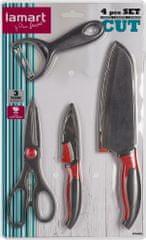 Lamart Sada nůž, nůžky, škrabla LT2098