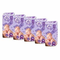 Carero MEGAPACK Dětské jednorázové pleny New Love Premium comfort 3 MIDI 4-9 kg 5x48 ks