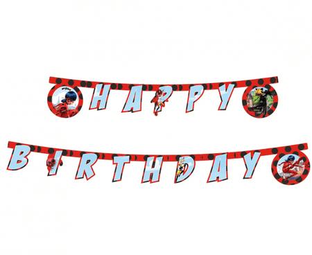 "GoDan Banner ""Miraculum"" - Happy Birthday 230cm"