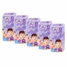 Carero MEGAPACK Dětské jednorázové pleny New Love Premium comfort 5 JUNIOR 11-25 kg 5x38 ks