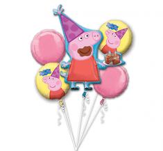 """Anagram Bukiet balonów 19"""" - Świnka Peppa 5szt"""