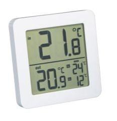 Fackelmann Beltéri/kültéri hőmérő 82x82x11mm fehér