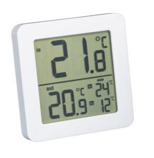 Fackelmann termometar unutarnji/vanjski, 82 x 82 x 11 mm, bijeli