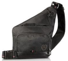 Lerros pánska čierna crossbody taška 5002904
