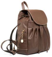VegaLM Luxusný kožený ruksak z pravej hovädzej kože v tmavo hnedej farbe