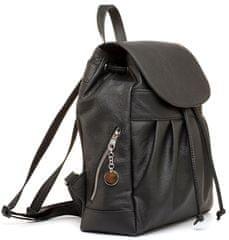 VegaLM Luxusný kožený ruksak z pravej hovädzej kože v čiernej farbe