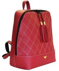 VegaLM Dámsky kožený ruksak z prírodnej kože v bordovej farbe