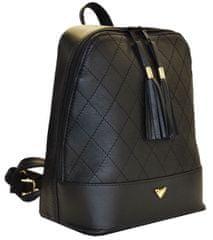 VegaLM Dámsky kožený ruksak z prírodnej kože v čiernej farbe