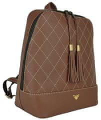 VegaLM Dámsky kožený ruksak z prírodnej kože v tmavo hnedej farbe