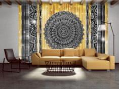 Murando DeLuxe Mandala ve zlaté Rozměry (š x v) a Typ: 350x245 cm - vliesové