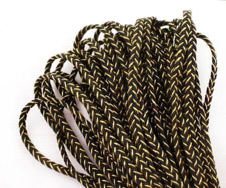 Kraftika 2yrd 1.8 m fémes arany fekete texturált poliészter soutache