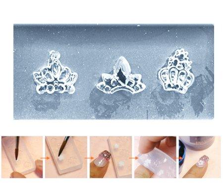 Kraftika 1szt przezroczysty 3 korony luksusowy rhinestone kryształ