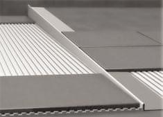 Nerezová lišta pre vyspádovanie podlahy, hrúbka 10 mm, dĺžka 1000 mm, ľavá