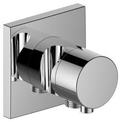 Keuco Keuco Ixmo - Dvojcestný prepínací ventil so štvorcovou rozetou napojením hadice a držiakom sprchy, chróm 59556011202