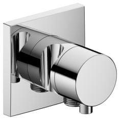 Keuco Keuco Ixmo - Trojcestný uzatvárací a prepínací ventil so štvorcovou rozetou napojením hadice a držiakom sprchy, chróm 59549011202