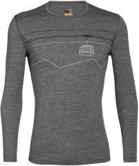 Icebreaker pánske tričko 200 Oasis LS Crewe Peak to Peak Lift 105208