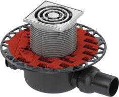 Tece TECEdrainpoint S- podlahová vpusť s univerzálnou prírubou a nerezovou mriežkou, 3601200