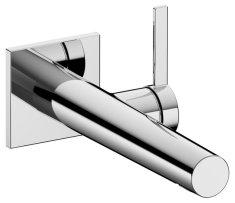 Keuco Keuco Ixmo - Umývadlová páková batéria pod omietku so štvorcovou rozetou, rameno 219 mm, prietok 7,6l/min., chróm 59516011102