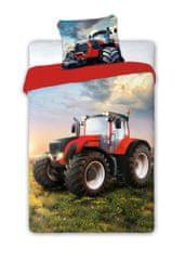 FARO Textil Dětské povlečení Traktor 140x200 cm