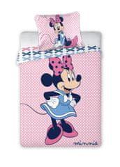 FARO Textil Gyerek ágyneműhuzat Minnie rózsaszín 135x100 cm