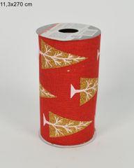 DUE ESSE Dekorační textilie do květinových vazeb a jiných aranžmá, červeno-zlatá, 11,3 x 270 cm