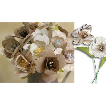 Kraftika Oszczędny złoty brązowy papierowe kwiaty origami