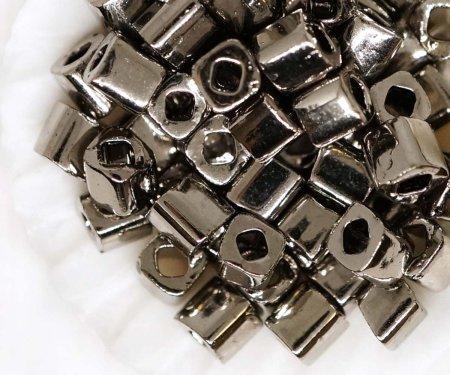 Kraftika 10g nikkel fém sötét ezüst kocka üveg japán toho mag