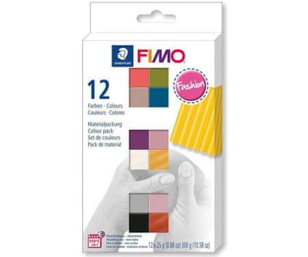 Kraftika Fimo puha készlet 12 szín 25g divat, diy kézzel készített