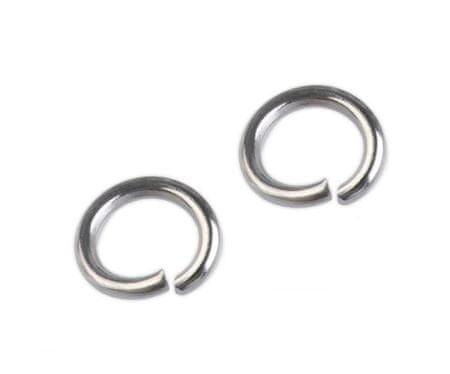 Kraftika 25pc platina rozsdamentes acél ugrás gyűrű ø6mm, acél
