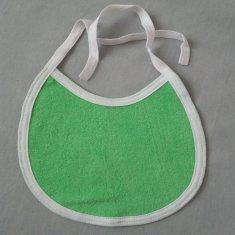 Toptextil Detský froté podbradník zelený