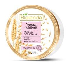 Bielenda VEGAN MUESLI Pšenica + Ovos + Ryžové mlieko vyživujúce telové maslo 250ml